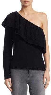 Ella Moss One-Shoulder Knitted Sweater