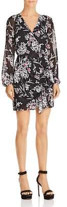 GUESS Rhodes Metallic Floral-Print Dress