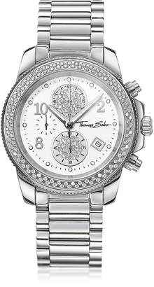 Thomas Sabo Glam Chrono Silver Stainless Steel Women's Watch w/Crystals