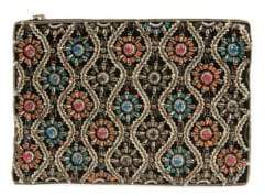 Sam Edelman Noemi Embellished Velvet Clutch