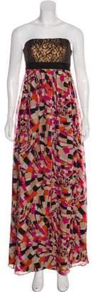 Trina Turk Strapless Maxi Dress