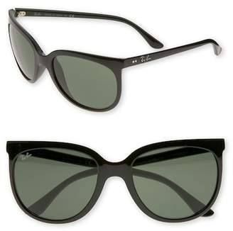 Ray-Ban 57mm Retro Cat Eye Sunglasses