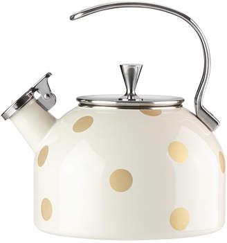 Kate Spade Deco Dot Gold Tea Kettle
