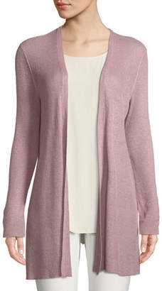 Eileen Fisher Organic Linen/Tencel Open Cardigan, Plus Size