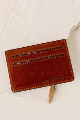 francesca's Monica Leather Card Case in Tan - Tan