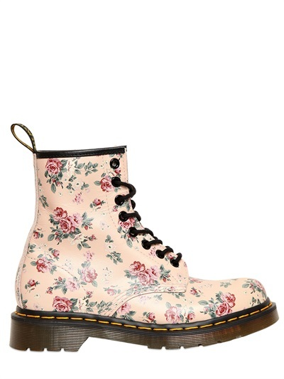 Dr. Martens 30mm Floral Printed Core Leather Boots