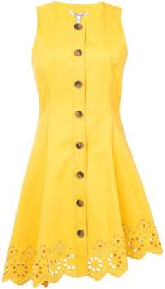 Derek Lam 10 Crosby Sleeveless Button Down Dress With Scalloped Hem