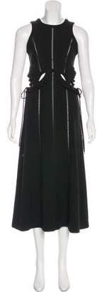 Self-Portrait Cut-Out Midi Dress