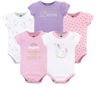 Hudson Baby Bodysuits, 5-pack (Baby Girls)