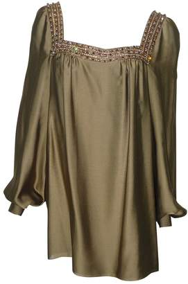Azzaro Khaki Silk Top for Women