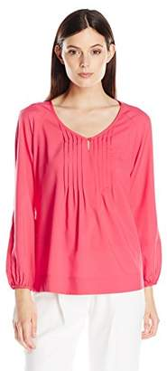 Lark & Ro Women's Long Sleeve Peasant Top