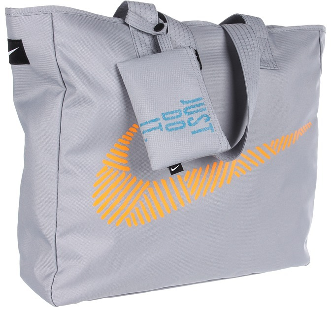 Nike Graphic Play Tote (Stadium Grey/Stadium Grey/White) - Bags and Luggage