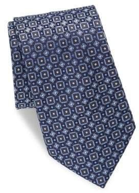 Brioni Repeat Circle Silk Tie