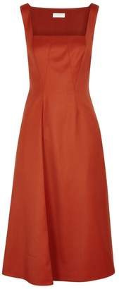 Lorod LOROD Burnt Orange Wool Pinafore Dress
