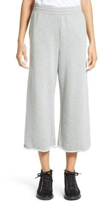 Alexander Wang Crop Wide Leg Sweatpants