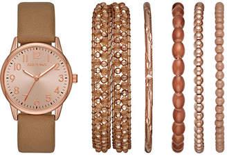 Arizona Womens Brown Watch Boxed Set-Fmdarz169
