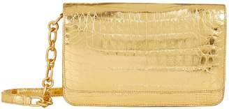 Nancy Gonzalez Metallic Crocodile Wallet Bag