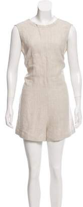 Veda Sleeveless Linen Romper w/ Tags