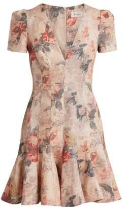 Zimmermann Radiate Flip Floral Dress - Womens - Cream Print