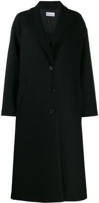 RED Valentino RED(V) ruffle detail midi coat