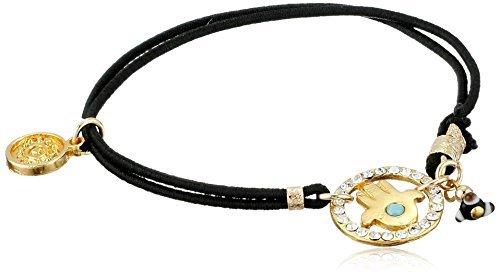 Swarovski Blee Inara Black Elastic Hamsa with Bracelet