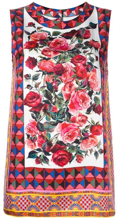 Dolce & GabbanaDolce & Gabbana Mambo print tank top