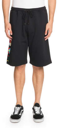 Marcelo Burlon County of Milan Flags-Applique Cotton Shorts
