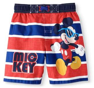 Trunks Mickey Mouse Baby Boys' Toddler Striped Swim Trunk Board Shorts