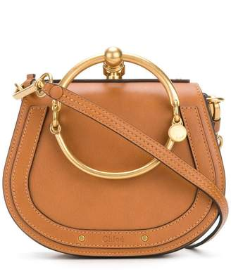 Chloé Brown Nile small leather bracelet bag