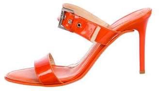 Donald J Pliner Patent Leather Slide Sandals