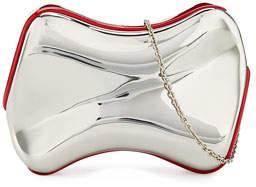 Christian Louboutin Shoespeaks Brass Clutch Bag, Silver