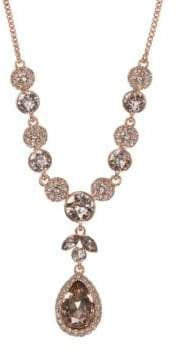 Givenchy Rose Goldtone Crystal Y-Shaped Necklace