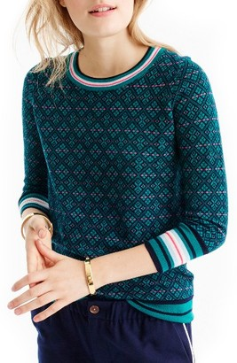 Women's J.crew Tippi Festive Fair Isle Sweater $89.50 thestylecure.com