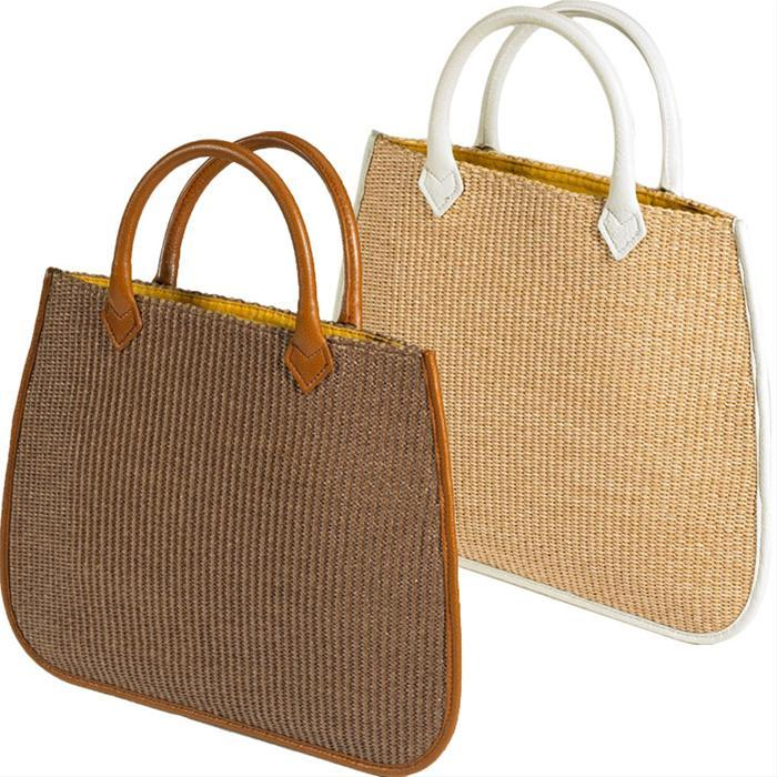 Allegra Straw with Matte Leather Detail by Vivre