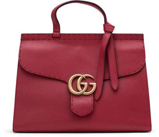 Gucci Marmont Top Handle Medium Red
