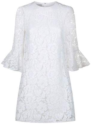 Valentino Lace Fluted Sleeve Dress
