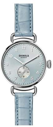 Shinola The Canfield Alligator Strap Watch, 38mm