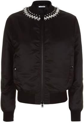 Pearl Neck Bomber Jacket