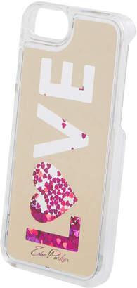 Edie Parker Floating Love Star Glitter Phone Case