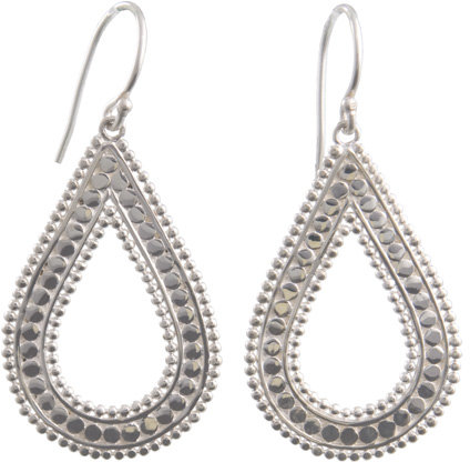 Anna Beck Flores Small Silver Drop Earrings