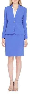 Tahari Arthur S. Levine Petite Two-Piece Buttoned Jacket and Skirt Suit