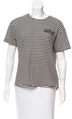 Sandrine Rose Striped Embroidered T-Shirt w/ Tags