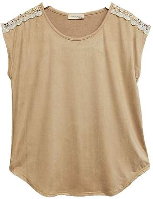 Twenty Second Tan Faux-Suede Top