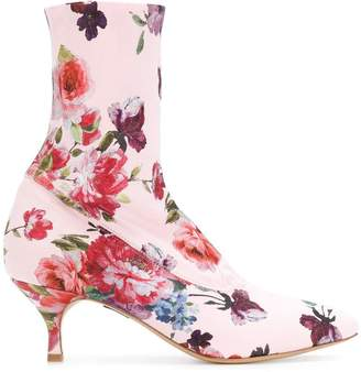 Strategia floral print sock boots