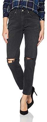 James Jeans Women's Donna High-Rise Straight Leg Ankle