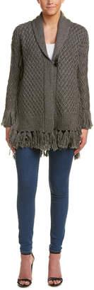 Ella Moss Basket-Weave Wool-Blend Cardigan
