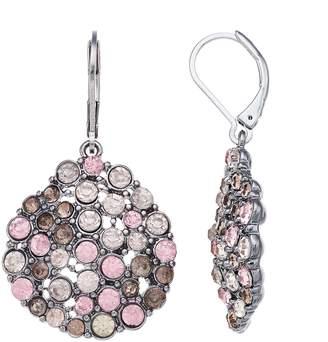Vera Wang Simply Vera Pink Stone Drop Earrings