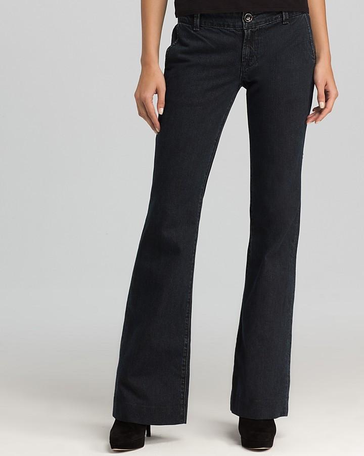 J Brand Wide-Leg Denim Trousers in Obsidian Wash