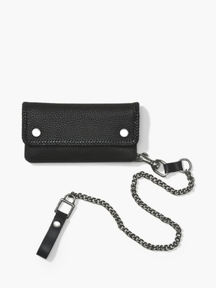 Pebbled Leather Biker Wallet $348 thestylecure.com