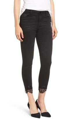 Wit & Wisdom High Waist Lace Trim Ankle Skimmer Jeans (Nordstrom Exclusive)